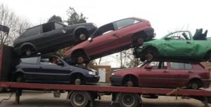 auto naar de sloop